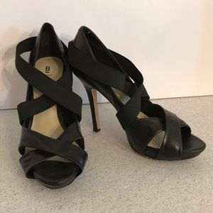 Bakers black leather Rambler platform sandals 9M